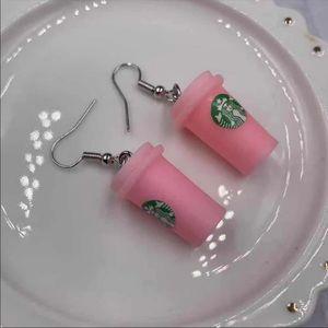 🤗 Handmade Starbucks Pinkberry earrings jewelry